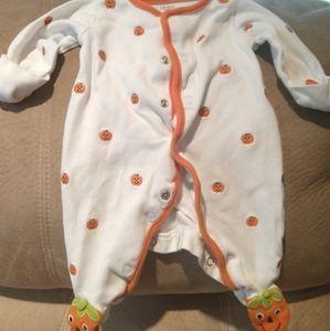 Carter's Newborn Jack-o'-lantern Onesie with feet